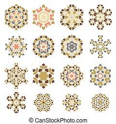 Set of Different Ornamental Rosettes