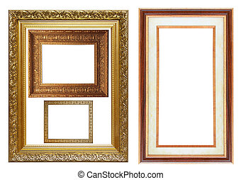 Set of different picture photo frames
