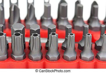 set of different sizes torx bits