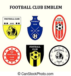 Set of different Soccer Football emblem or Logo Template