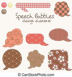 set of different speech bubbles, design elements