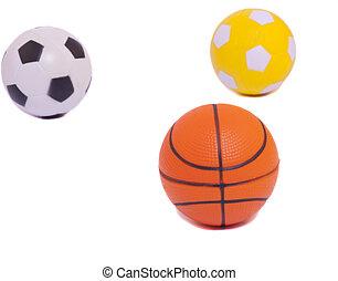 set of different sport balls