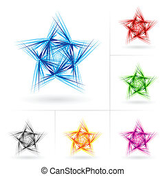 Set of different stars icons