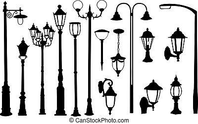 lights - set of different street lights