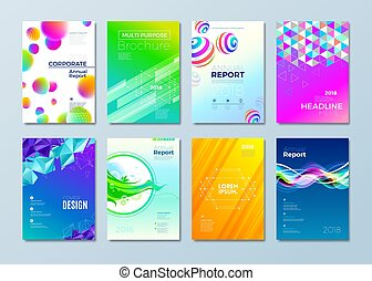 Set of different style design template for cover,