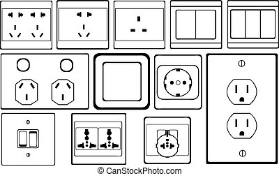 socket - set of different switches and sockets