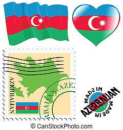 national colours of Azerbaijan