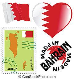 national colours of Bahrain