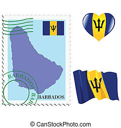 national colours of Barbados