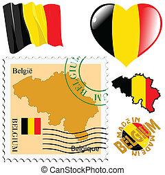 national colours of Belgium