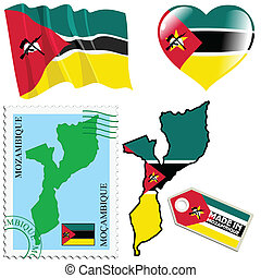 national colours of Mozambique