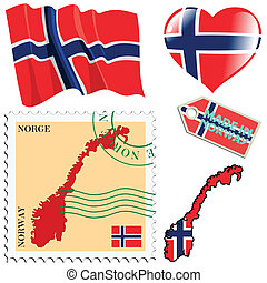 national colours of Norway