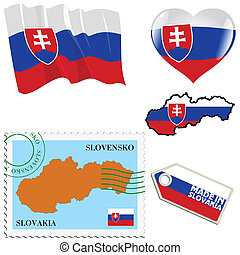 national colours of Slovakia