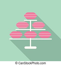 Set of different taste french macaroons,collection of variation colorful french macarons,vector art image illustration, isolated on background.Beautiful card.