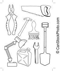 set of different tools