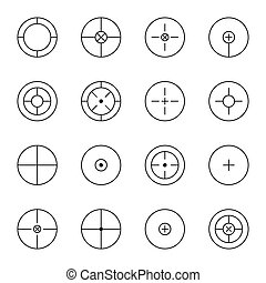 set of different types crosshair - set of different types of...