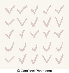 Set of Different Vector Check Marks