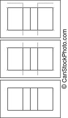 Set of different volleyball court