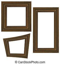 Set of Different Wooden Frames