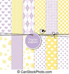 Set of digital paper