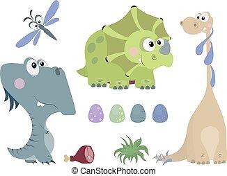 Set of dinosaurs 2
