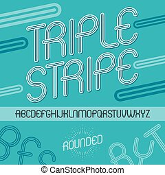 Set Of Disco Vector Upper Case English Alphabet Letters Isolated Funky Rounded Font Typescript