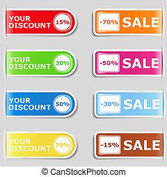 Set of discount labels