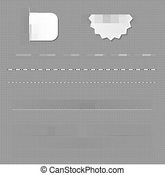 Set Of Dividers With Grey Background