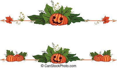 set of dividers with pumpkins