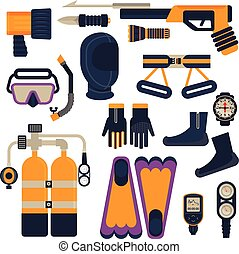 set of diving equipment