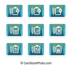 set of Document icon, vector