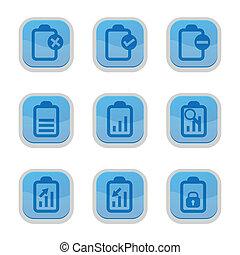 set of document icon, vector