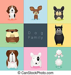 Set of dog family 2