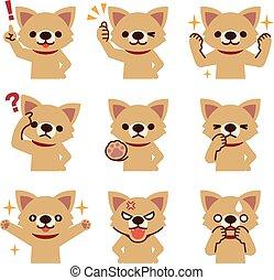 Set of dog look - Vector illustration. Original paintings ...
