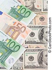 dollar and euro