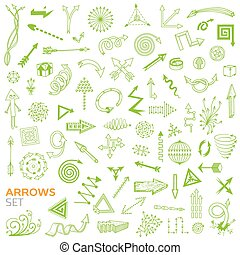 Set of doodle arrows