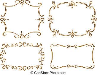 set of doodle frame