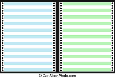 Set of Dot Matrix Printer Paper