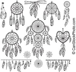 Set of Dreamcatchers