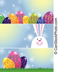 set of Easter banners