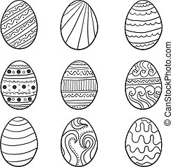 Set of easter egg illustration