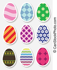 Set of Easter egg stickers