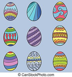 Set of easter egg various collection