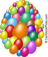 Set of easter eggs design
