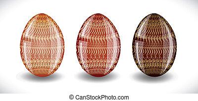 Set of easter eggs.