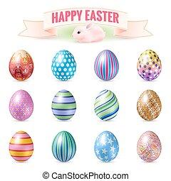 Set of Easter Eggs