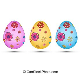Set of Easter eggs vector EPS