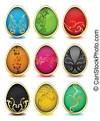Set of easter eggs. Vector