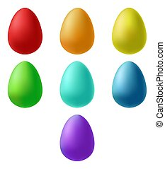 Set of easter eggs. Vector illustration in cartoon style.