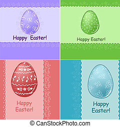 Set of Easter greetings card
